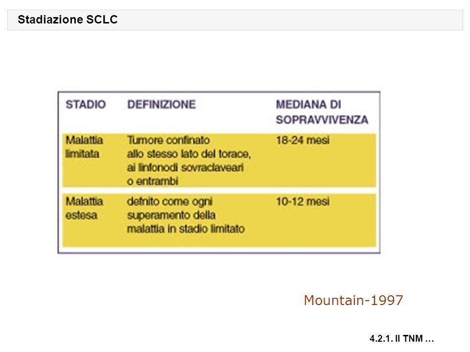 Mountain-1997 Stadiazione SCLC 4.2.1. Il TNM …