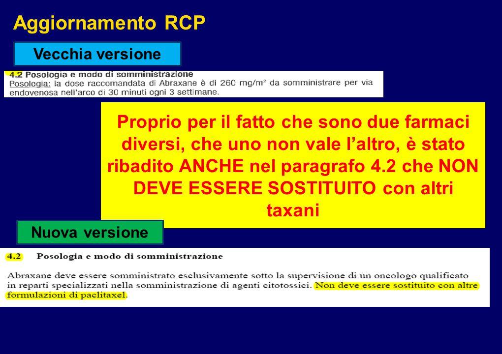Aggiornamento RCP Vecchia versione.