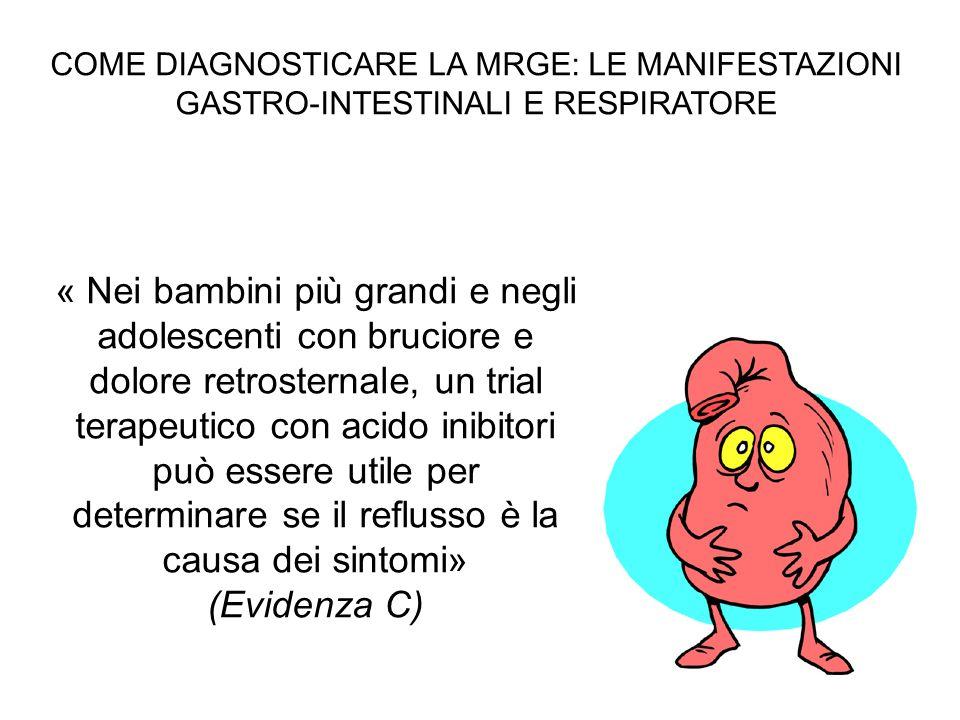 COME DIAGNOSTICARE LA MRGE: LE MANIFESTAZIONI GASTRO-INTESTINALI E RESPIRATORE