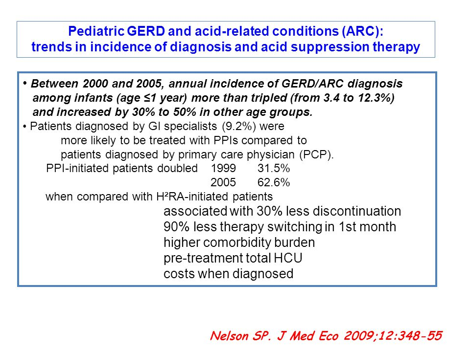 Pediatric GERD and acid-related conditions (ARC):