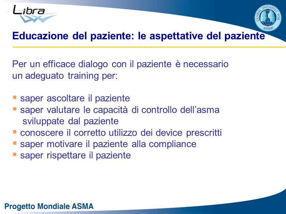Educazione del paziente: le aspettative del paziente