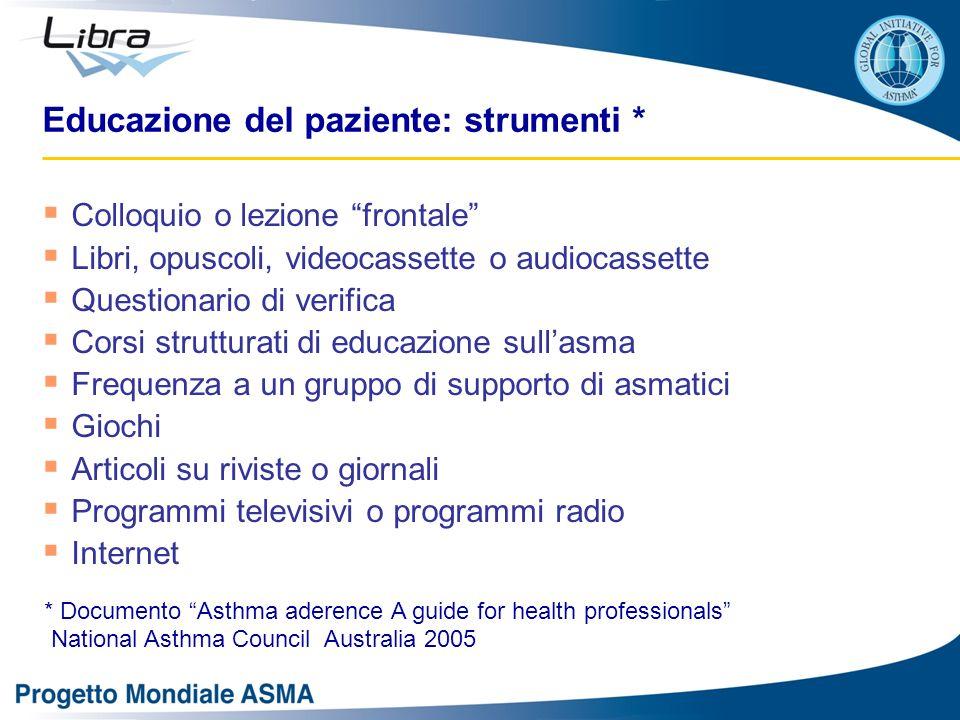 Educazione del paziente: strumenti *