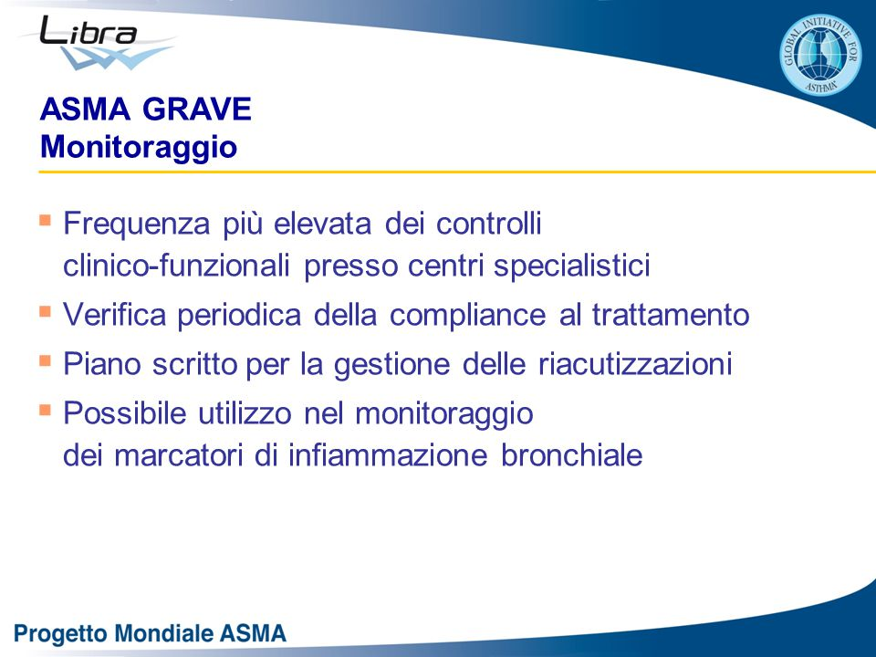 ASMA GRAVE Monitoraggio