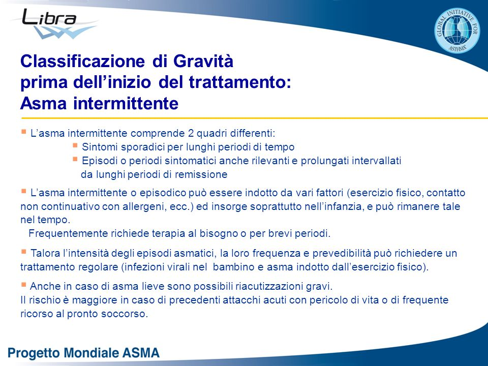 Classificazione di Gravità prima dell'inizio del trattamento:
