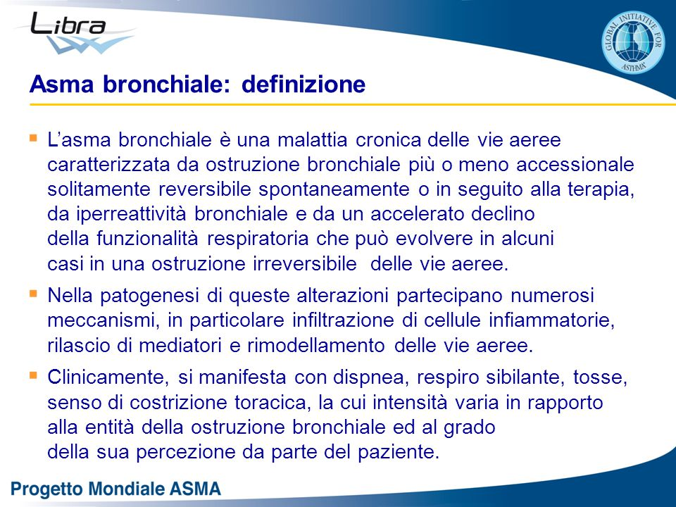 Asma bronchiale: definizione