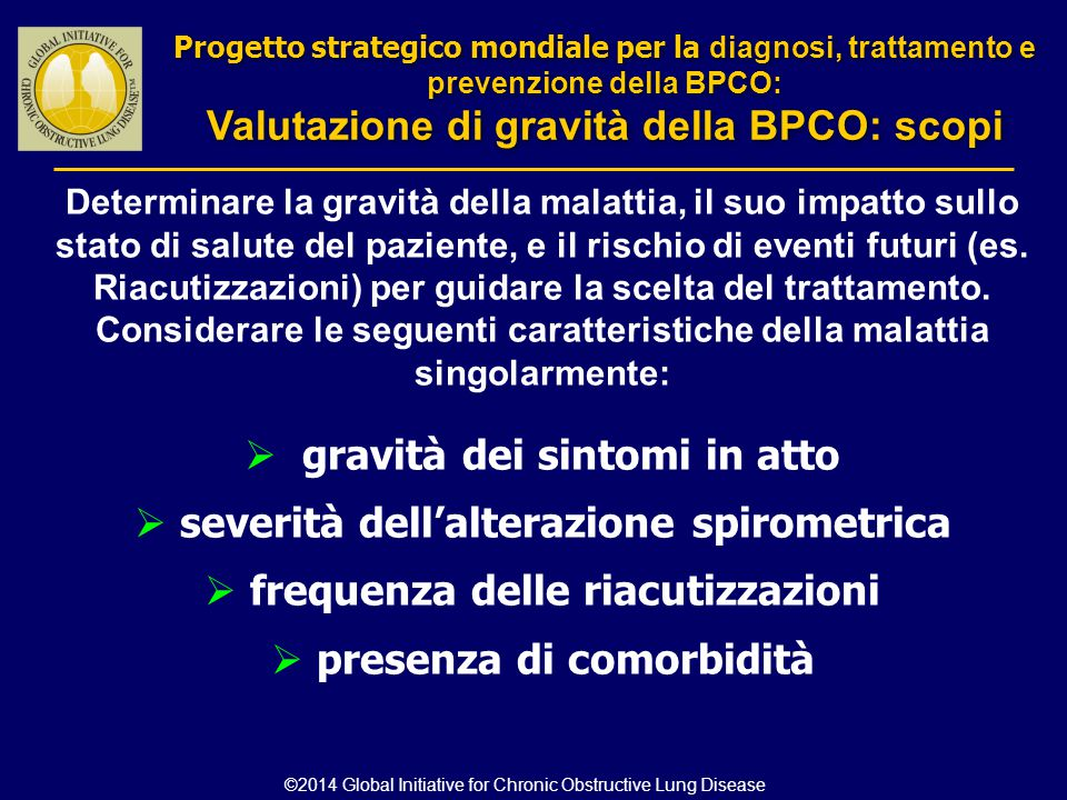 Valutazione di gravità della BPCO: scopi