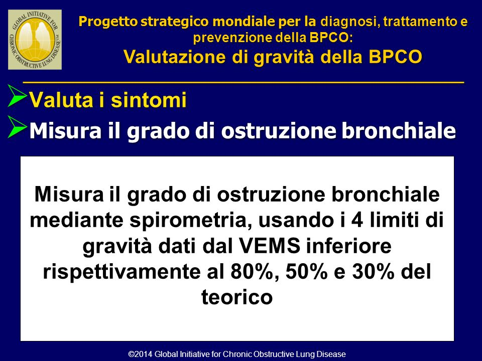 Valutazione di gravità della BPCO