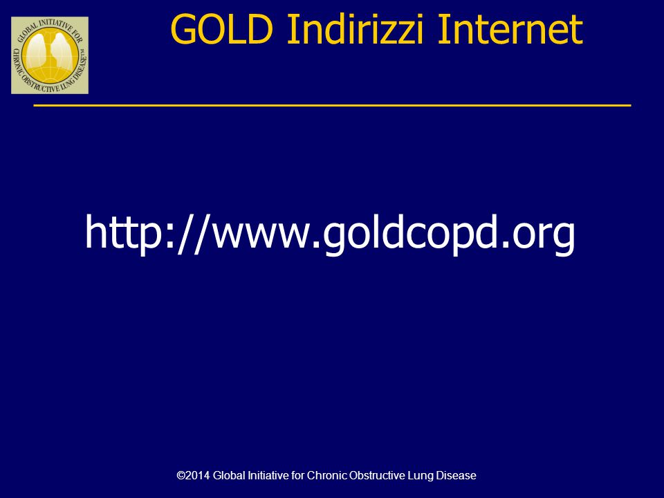http://www.goldcopd.org GOLD Indirizzi Internet