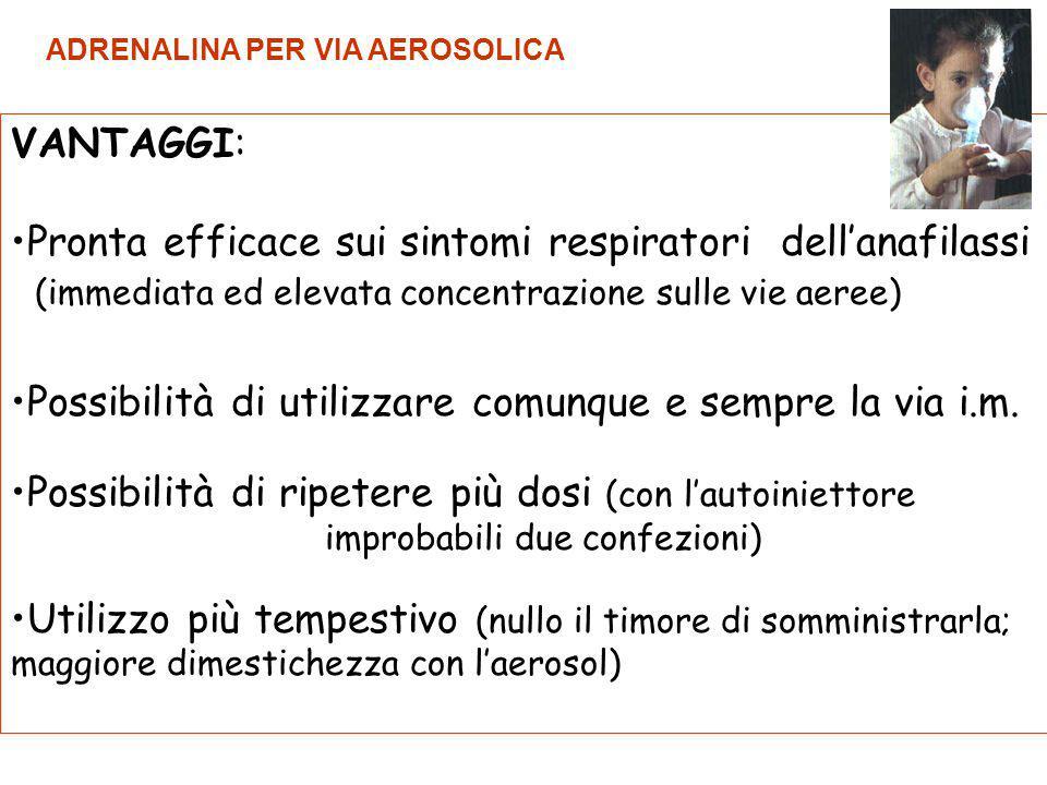 Pronta efficace sui sintomi respiratori dell'anafilassi