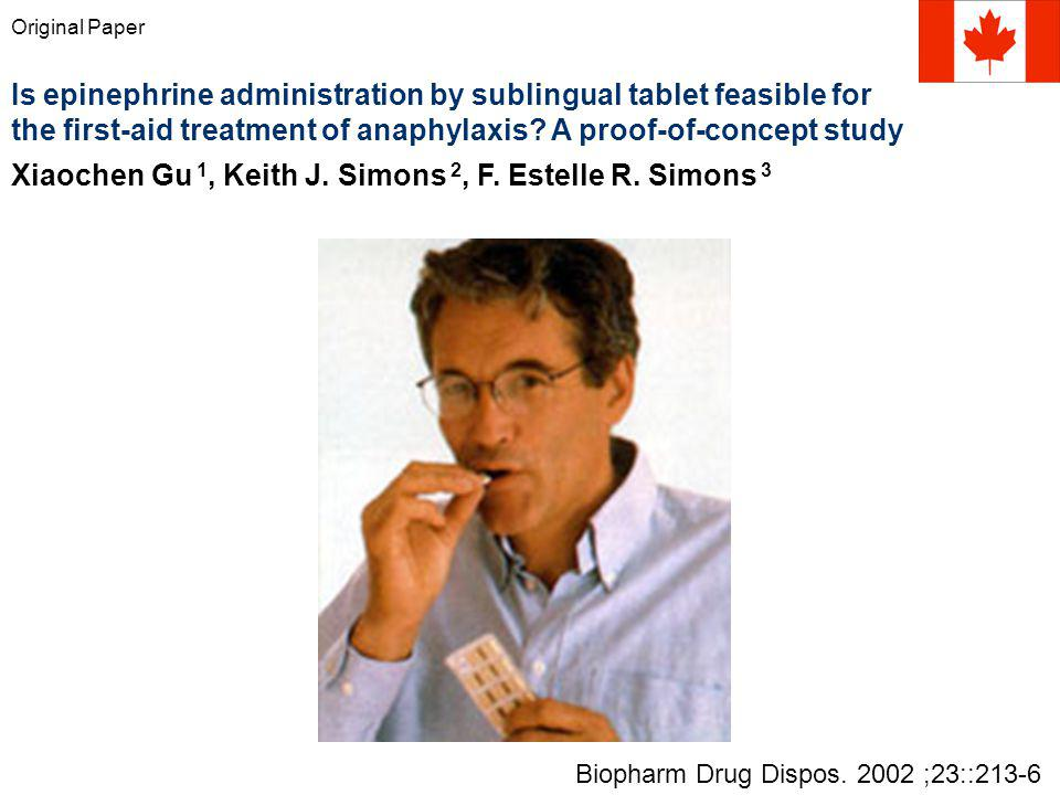 Is epinephrine administration by sublingual tablet feasible for
