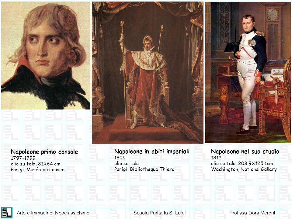 Napoleone primo console Napoleone in abiti imperiali