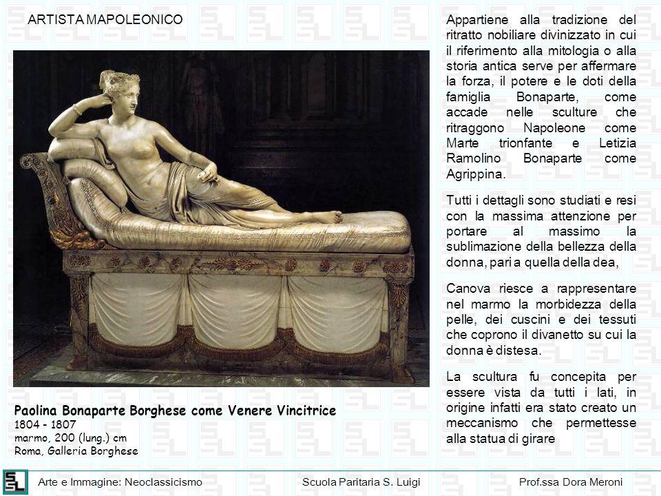 Paolina Bonaparte Borghese come Venere Vincitrice