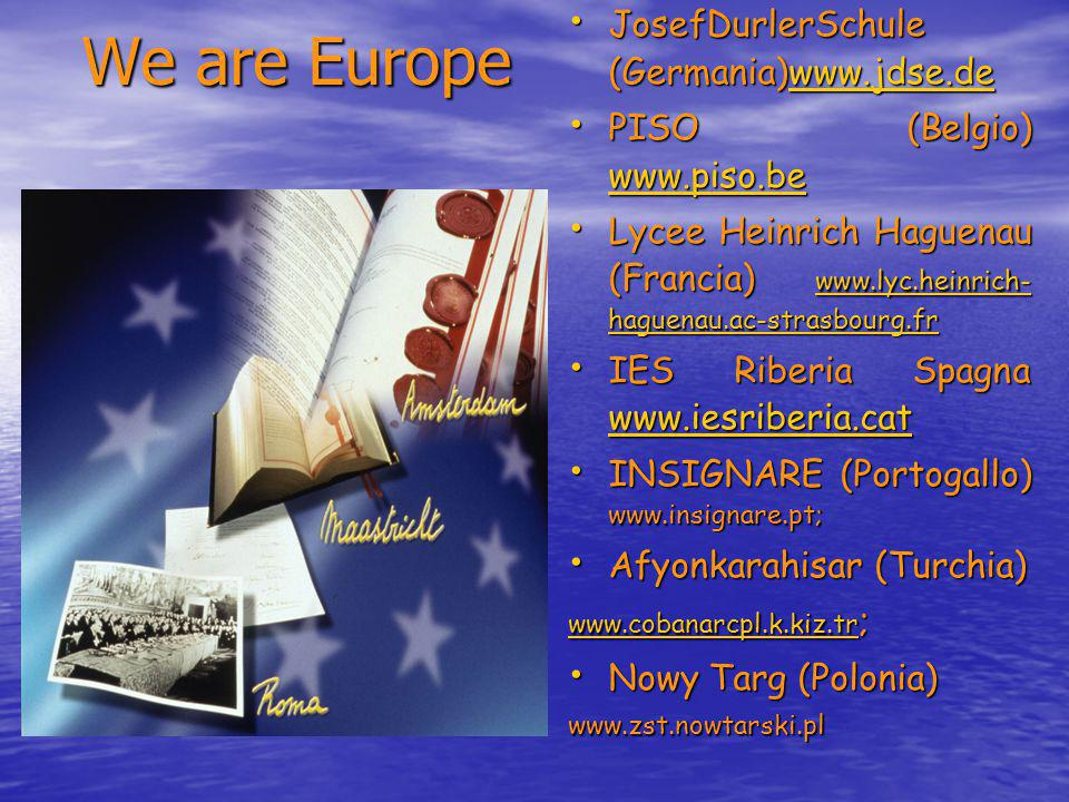 We are Europe JosefDurlerSchule (Germania)www.jdse.de