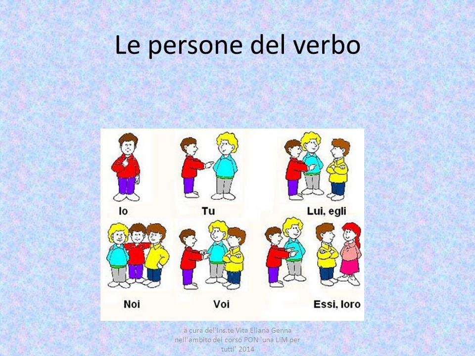 Le persone del verbo a cura del ins.te Vita Eliana Genna nell ambito del corso PON una LIM per tutti 2014.