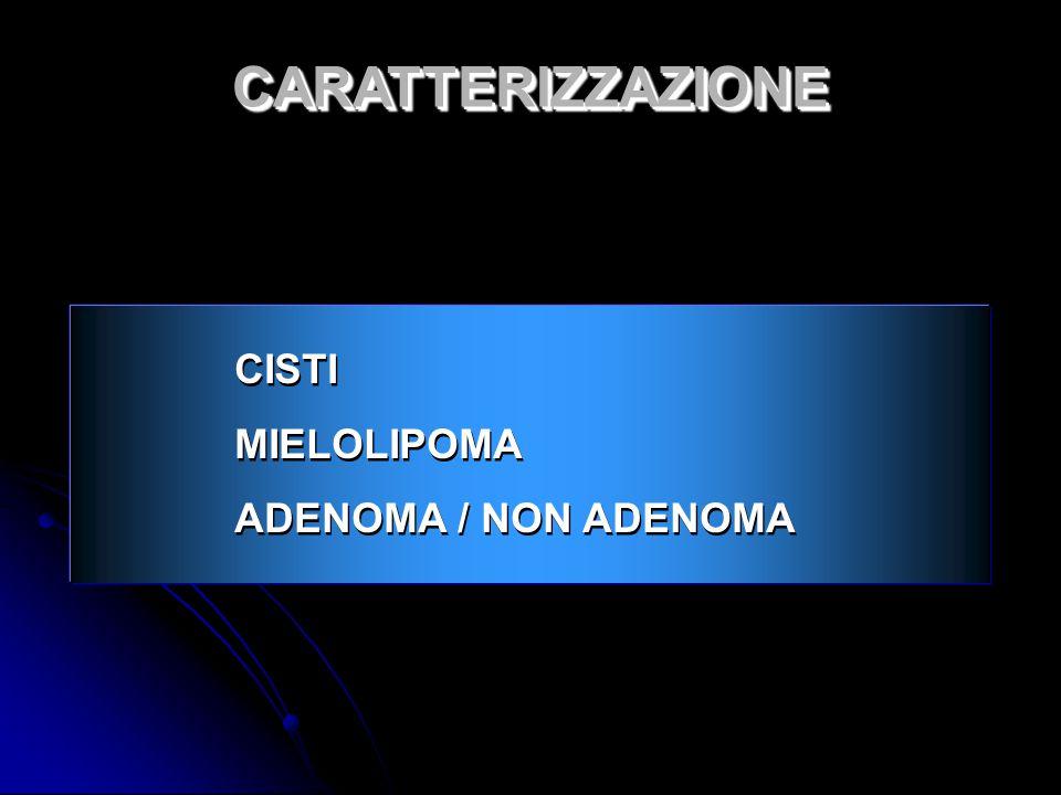 CARATTERIZZAZIONE CISTI MIELOLIPOMA ADENOMA / NON ADENOMA 7