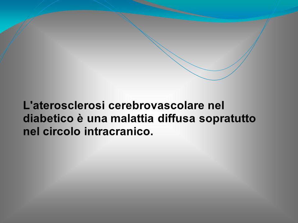 L aterosclerosi cerebrovascolare nel diabetico è una malattia diffusa sopratutto nel circolo intracranico.