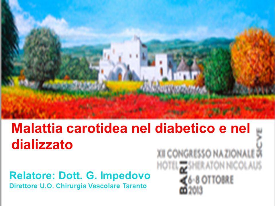 Malattia carotidea nel diabetico e nel dializzato
