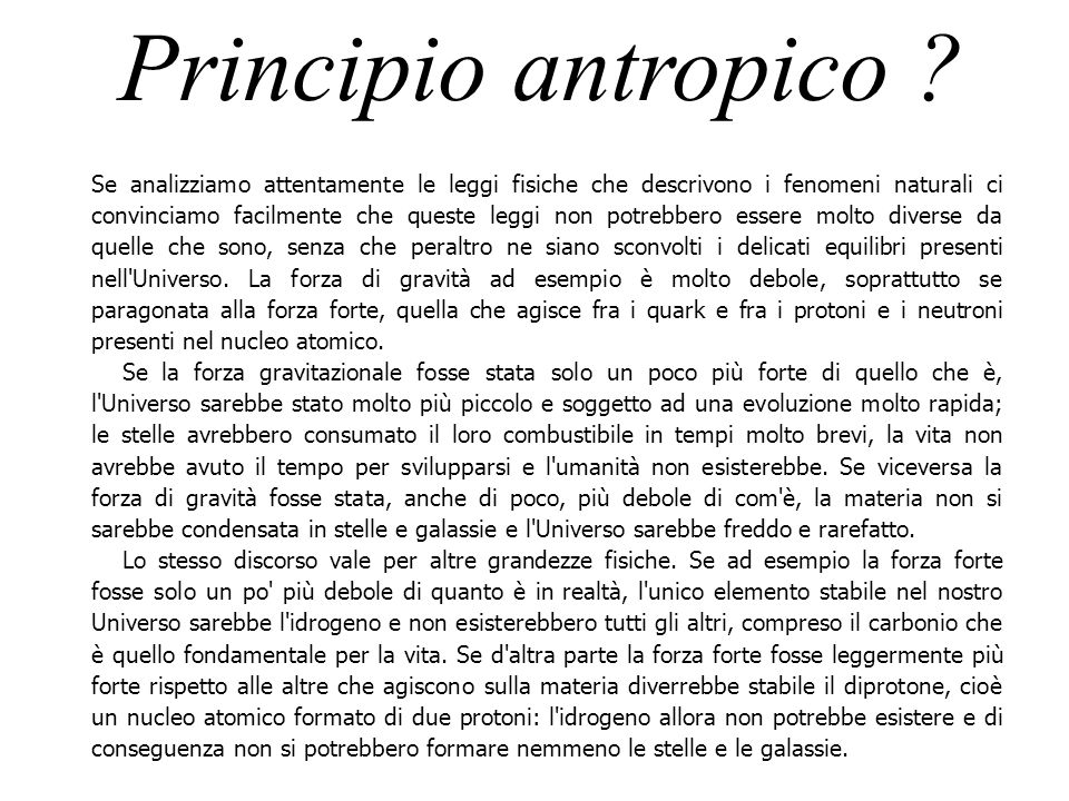 Principio antropico