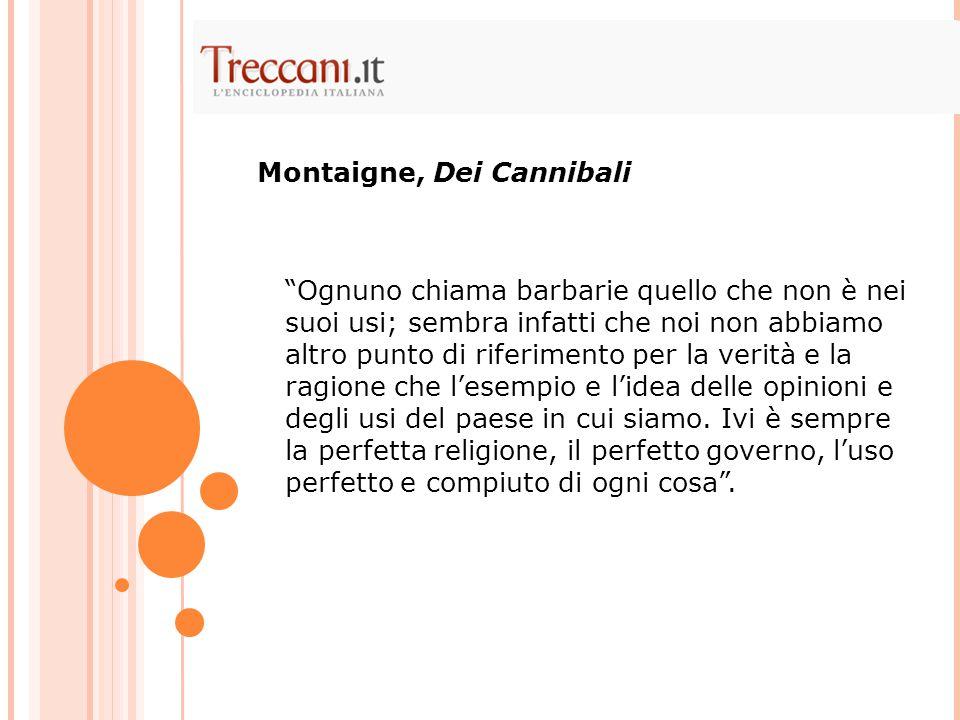Montaigne, Dei Cannibali