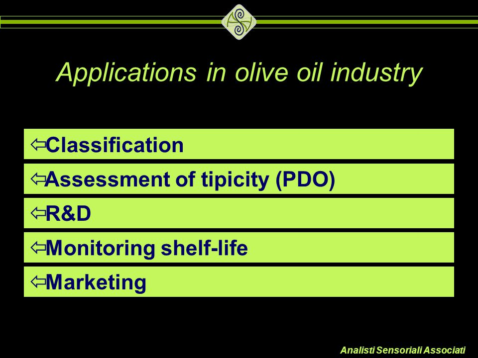 Applications in olive oil industry