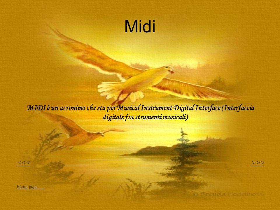 Midi MIDI è un acronimo che sta per Musical Instrument Digital Interface (Interfaccia digitale fra strumenti musicali).
