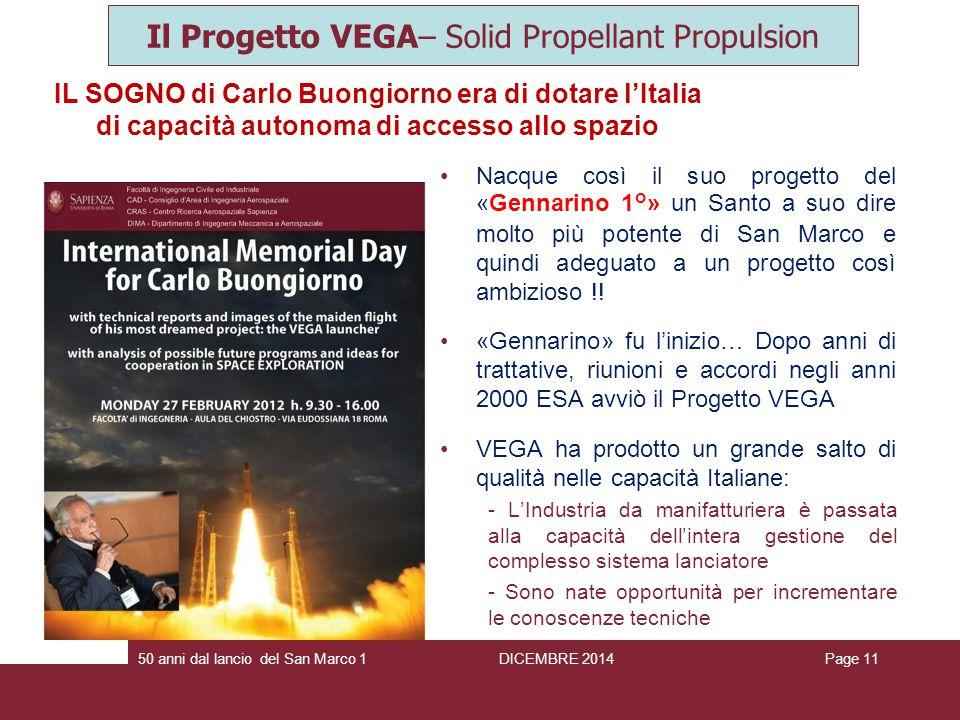 Il Progetto VEGA– Solid Propellant Propulsion