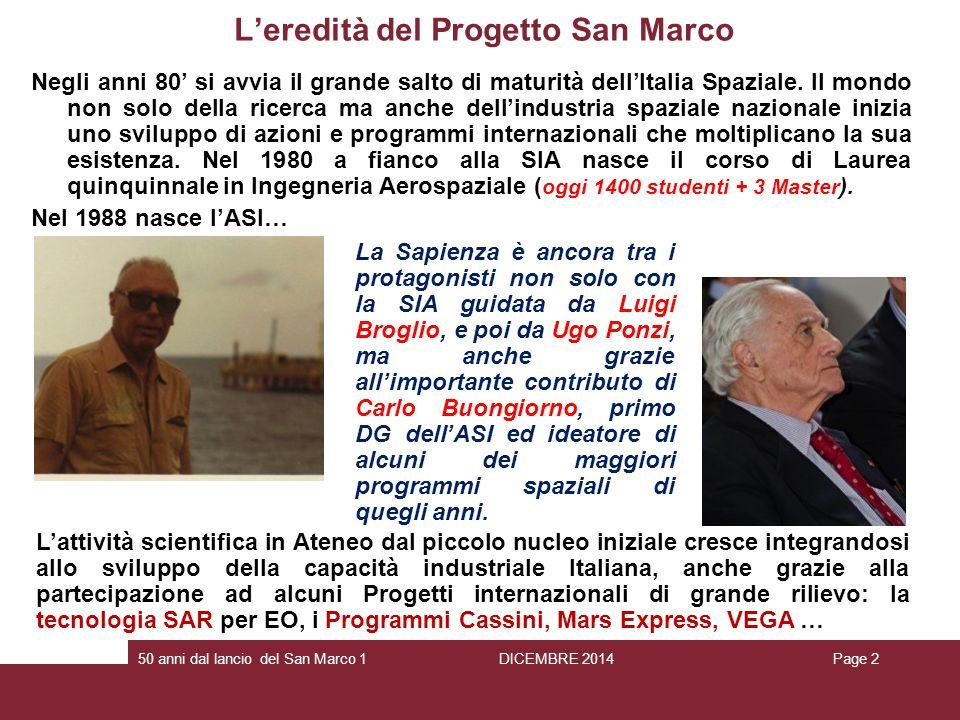 L'eredità del Progetto San Marco