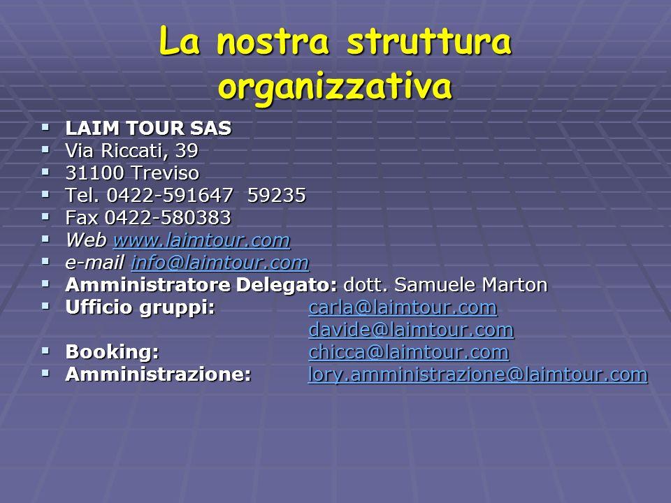 La nostra struttura organizzativa