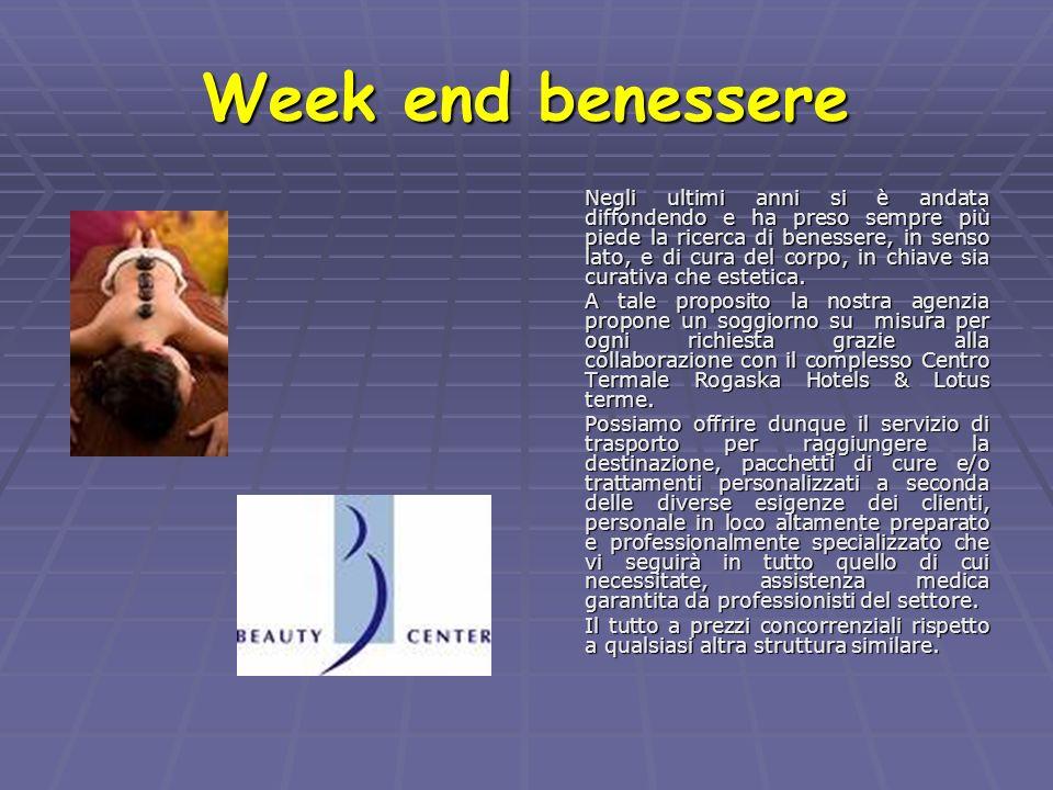 Week end benessere