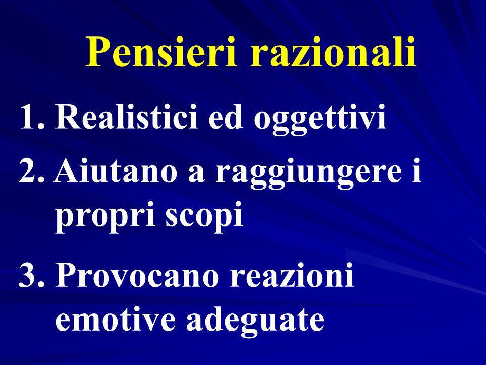 Pensieri razionali 1. Realistici ed oggettivi