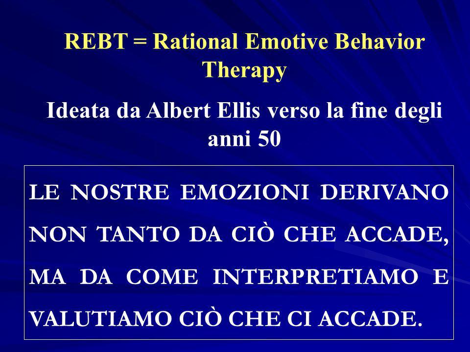REBT = Rational Emotive Behavior Therapy