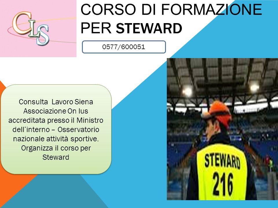 Corso di formazione per steward