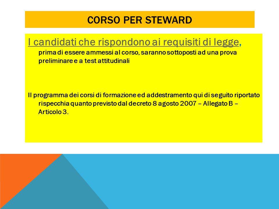 Corso per steward