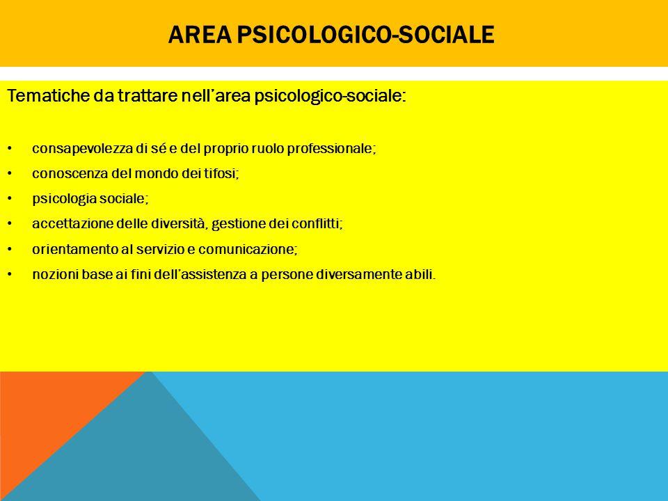 Area psicologico-sociale