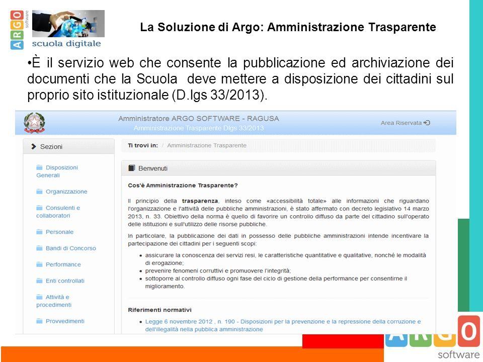 La Soluzione di Argo: Amministrazione Trasparente