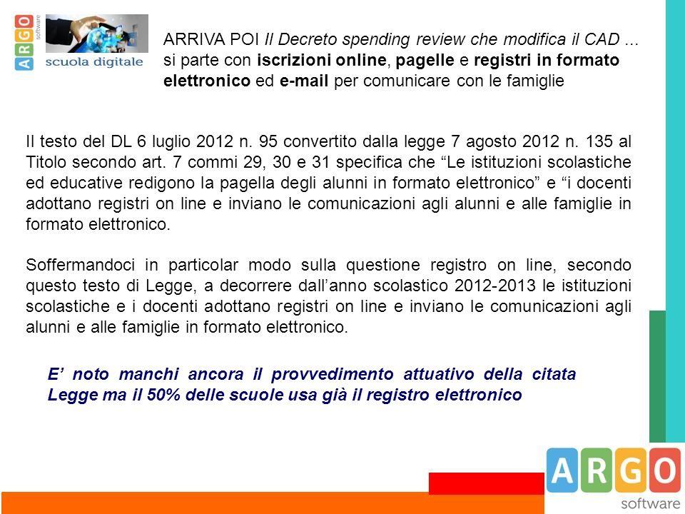 ARRIVA POI Il Decreto spending review che modifica il CAD ...