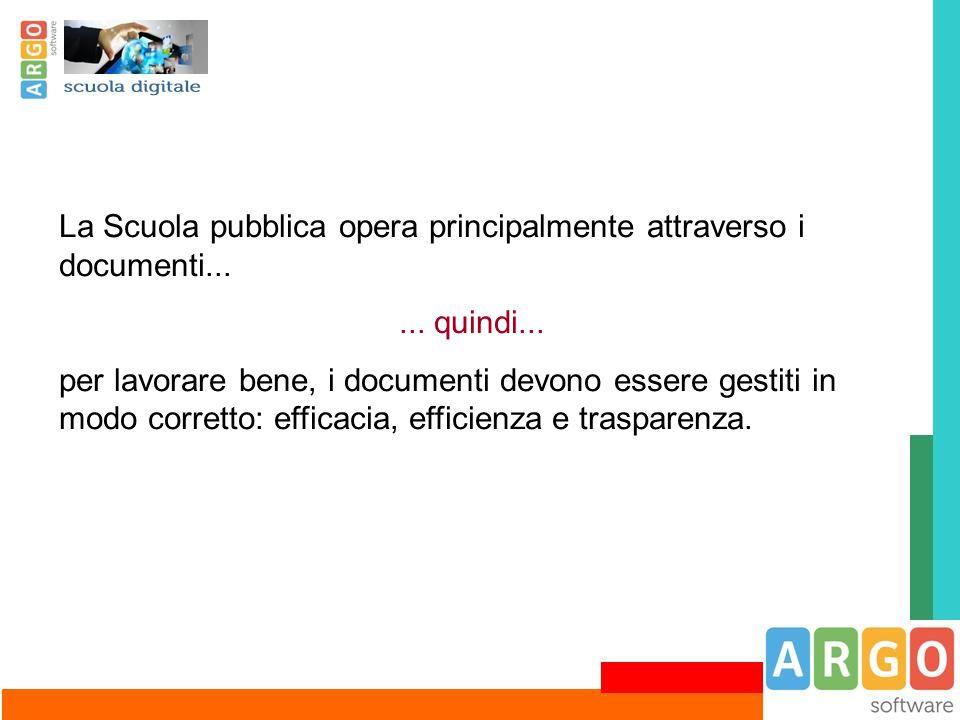 La Scuola pubblica opera principalmente attraverso i documenti...