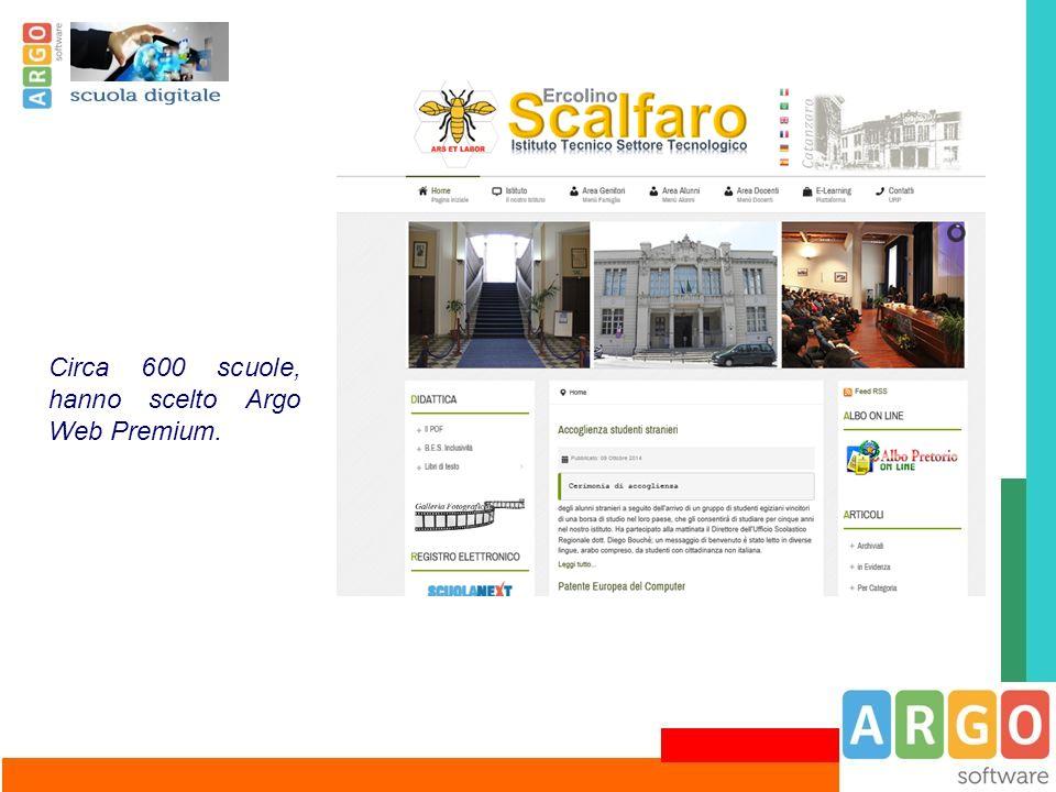 Circa 600 scuole, hanno scelto Argo Web Premium.