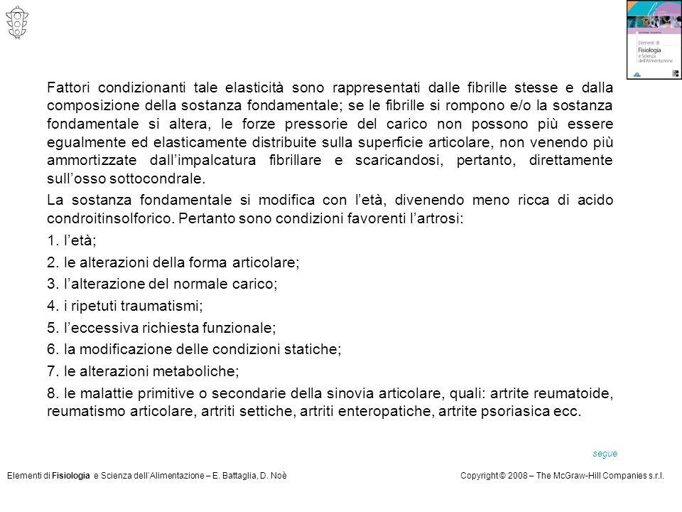 2. le alterazioni della forma articolare;