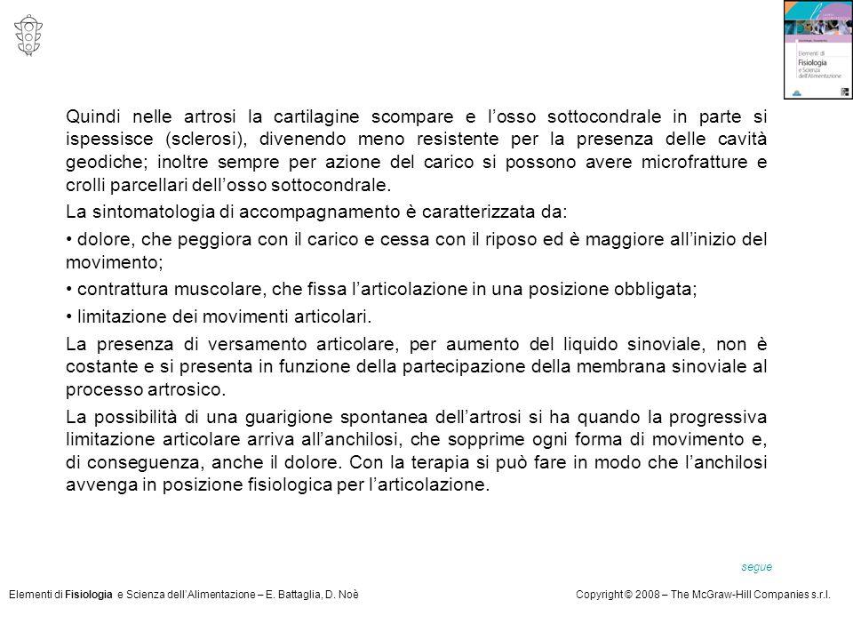 La sintomatologia di accompagnamento è caratterizzata da: