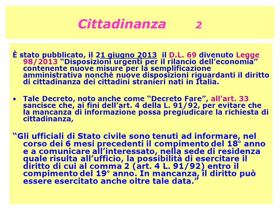 Cittadinanza 2