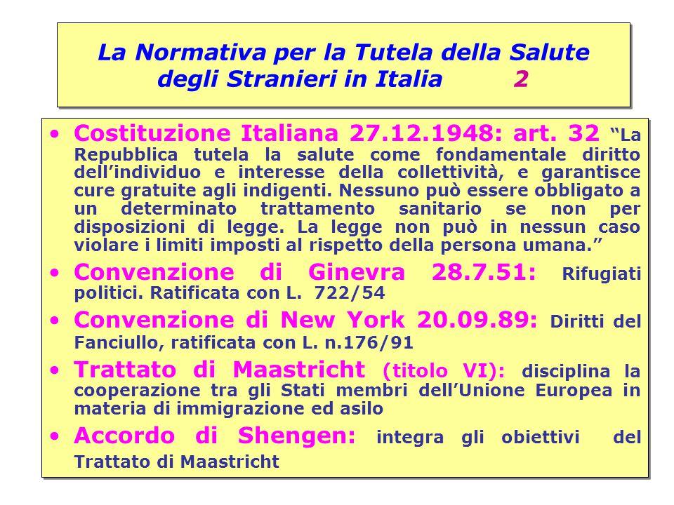 La Normativa per la Tutela della Salute degli Stranieri in Italia 2