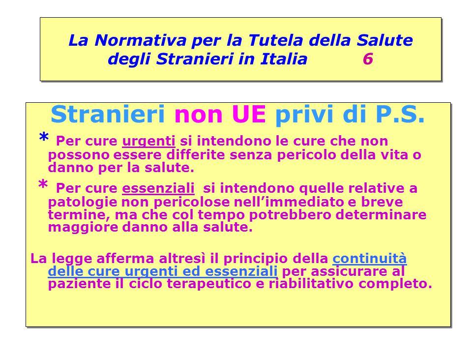 La Normativa per la Tutela della Salute degli Stranieri in Italia 6