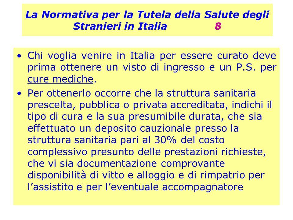 La Normativa per la Tutela della Salute degli Stranieri in Italia 8
