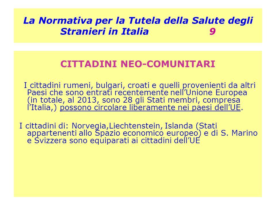 La Normativa per la Tutela della Salute degli Stranieri in Italia 9