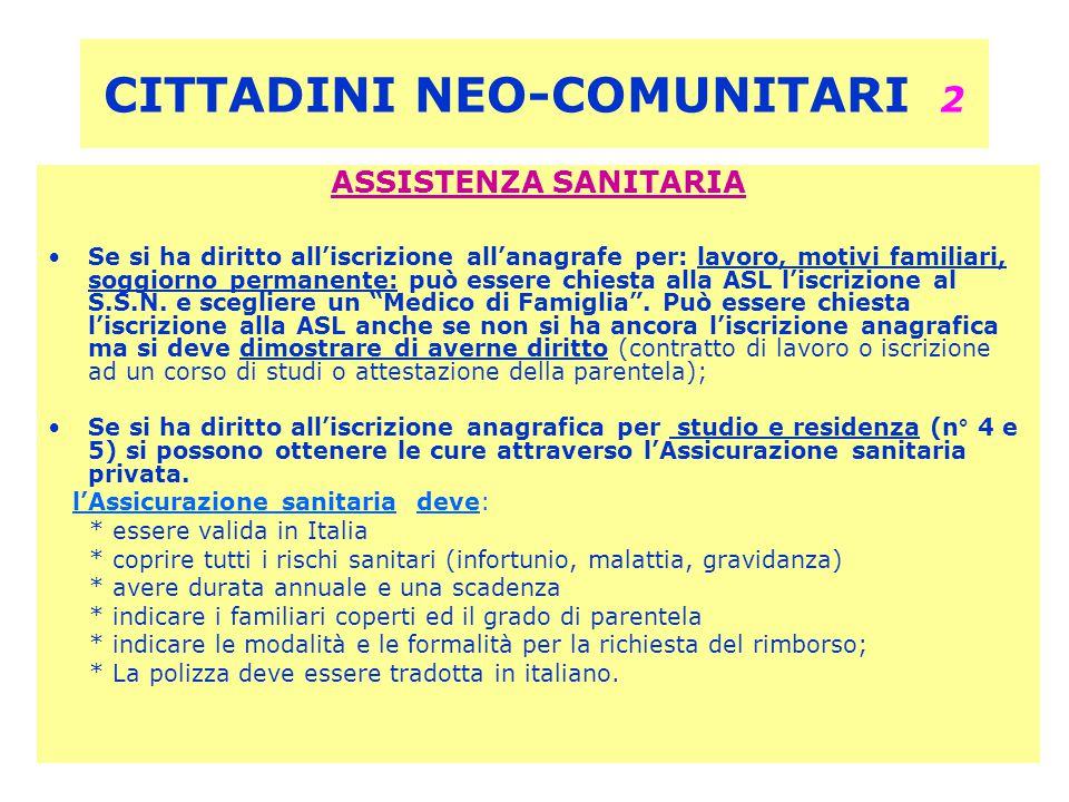 CITTADINI NEO-COMUNITARI 2