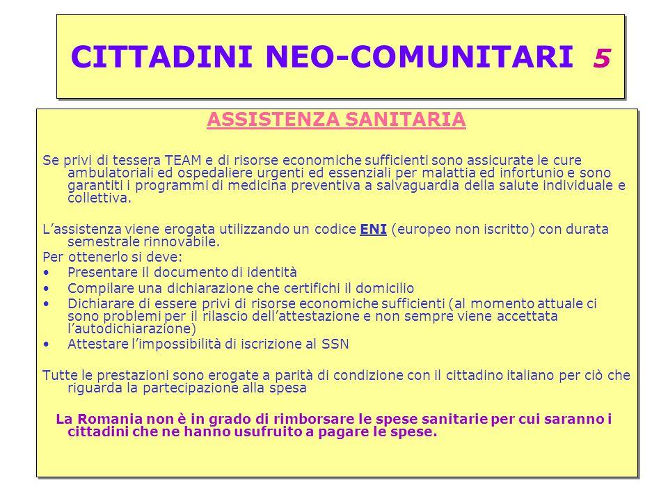 CITTADINI NEO-COMUNITARI 5