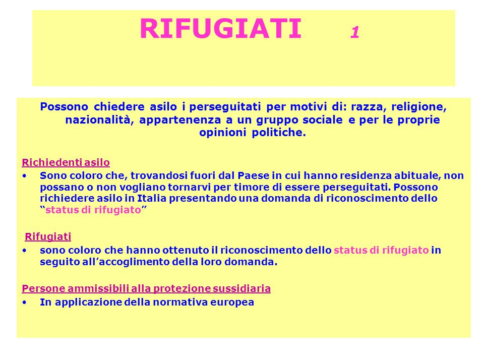 RIFUGIATI 1