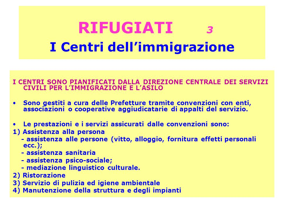 RIFUGIATI 3 I Centri dell'immigrazione