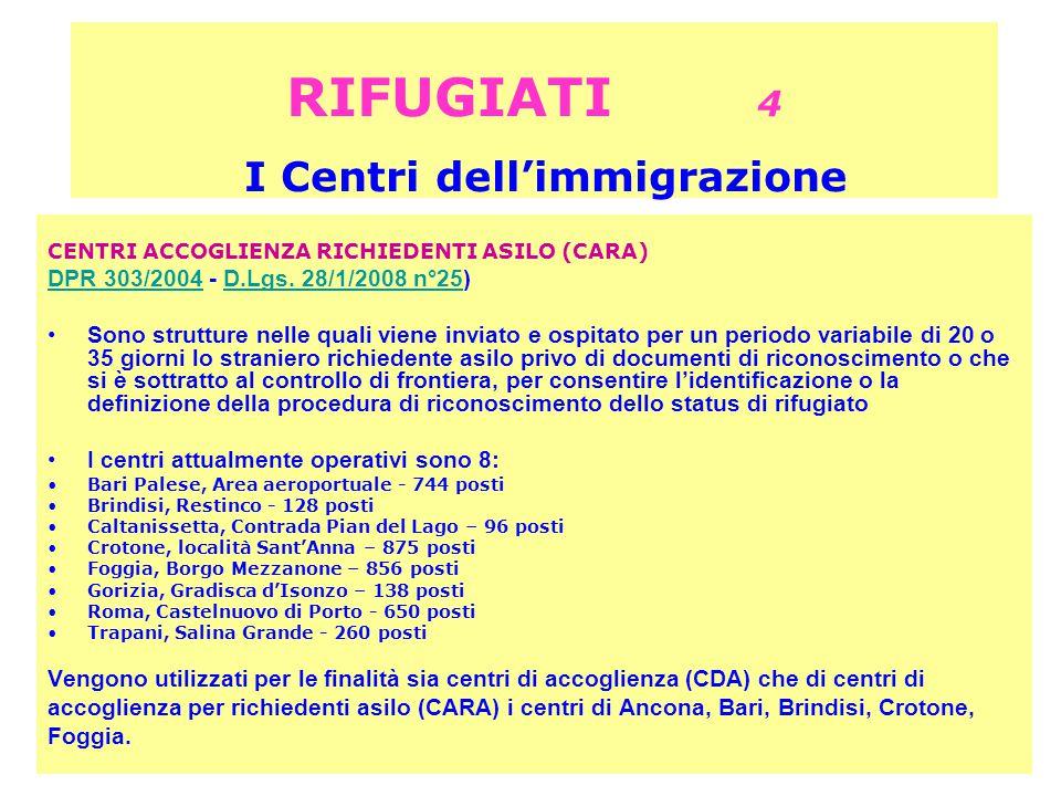 RIFUGIATI 4 I Centri dell'immigrazione